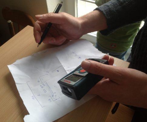 Räume aufmessen: es wird konkret-o-meter!